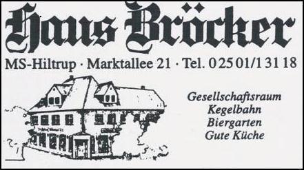 Gaststätte Haus Bröcker Hiltrup - Eike Höing